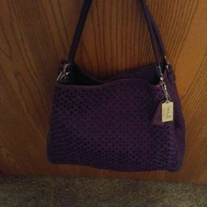 Coach Town Bucket Bag. Deep purple.